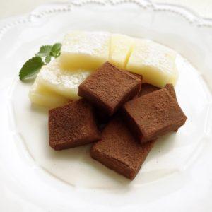 バーベキューでチョコレートのっけお餅